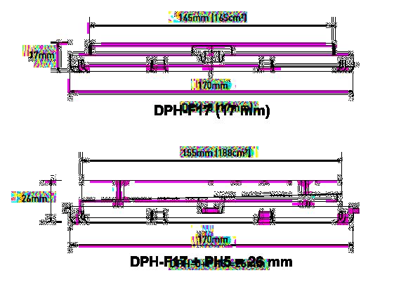 Nákres rektifikačního terče BUZON DPH-0 bez a se sklonovým korektorem PH5