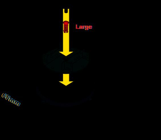 Použití držáku roštu KIT-3-DPH u rektifikačních terčů BUZON se sklonovým korektorem PH5