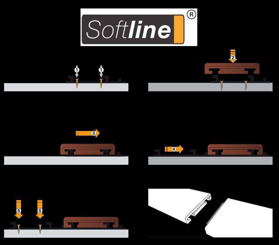 Návod montáže terasových prken pomocí systému uchycení Softline