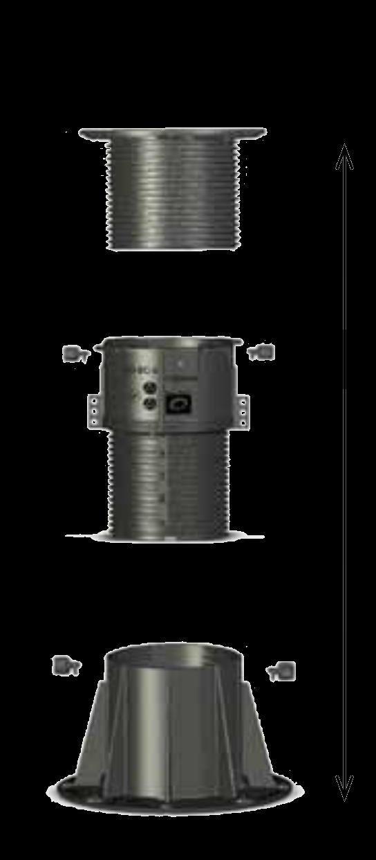 BC-7-NSC podstavec BUZON rozložený s popisky dílů