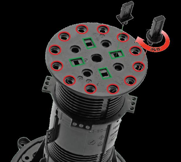 Použití mezerníků na hlavě rektifikačního terče BUZON BC série