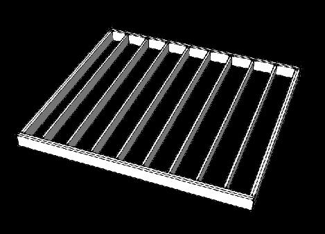 Rošt z konstrukčních hranolů pro wpc terasu