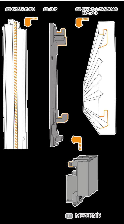 Provětrávané fasády Techniclic - použití mezerníku