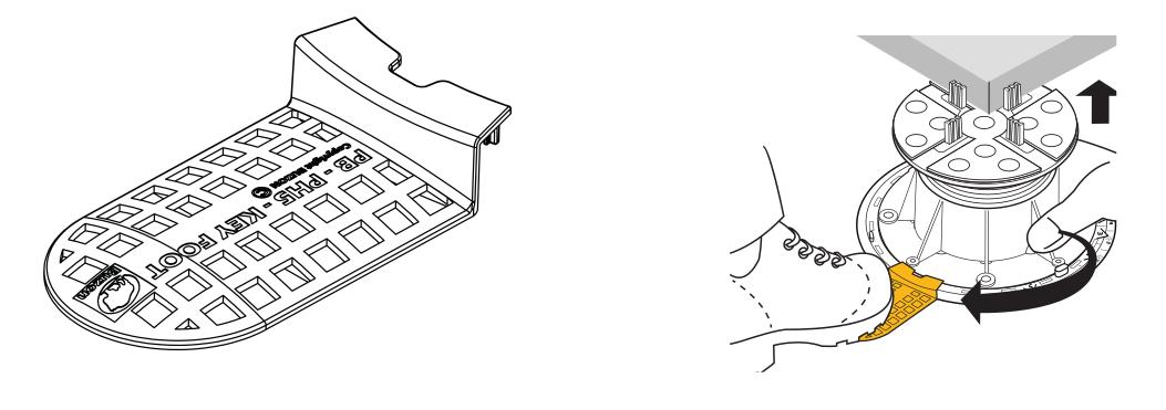 Použití klíčové patky při úpravě výšky rektifikačního terče Buzon se sklonovým korektorem U-PH5