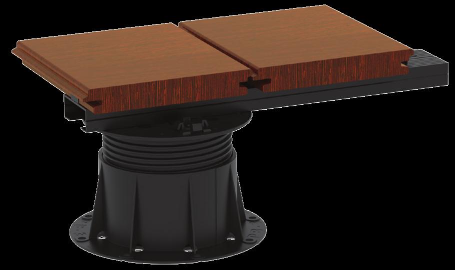 U-BRS-WOOD kolejnicový systém pro dřevěné a wpc terasy