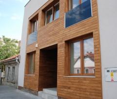 Dřevěné obložení fasády - Topol (thermo)