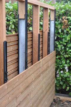 Dřevěné obložení plotu pomocí systému Techniclic® - Severská borovice