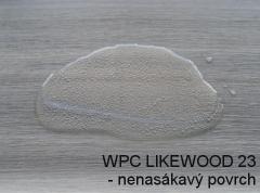 Nenasákavý povrch WPC prken Likewood 23
