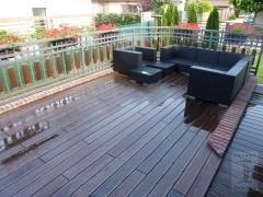 Dřevoplastové terasa z wpc desek Likewood 23, odstín ořech