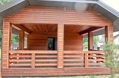 Dřevěná terasa i provětrávaná  fasáda z merbau - systém Softline 3