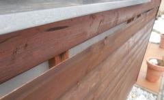 Původní stav dřevěného obložení