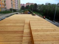 Dokončená dřevěná terasa