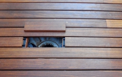 Odtok dřevěné terasy - otevřený
