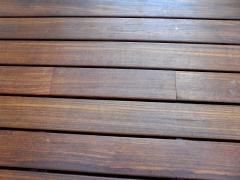Odtok dřevěné terasy - zavřený
