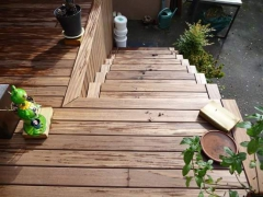 Vyvýšená terasa se schody (Arkobois)