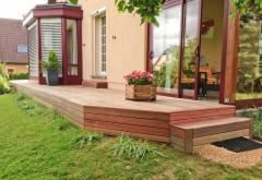 Softline Padouk dřevěná terasa se schody (Parquet Services)