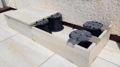 Využití PB-zakončení pro vytvoření schodu z keramické dlažby