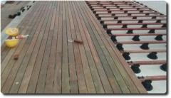 Montáž dřevěné terasy IPE systému Softline na rektifikační terče BUZON