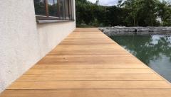 Dřevěná terasa z tropického dřeva Garapa (klasická montáž skrz prkno)