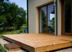 Dřevěná terasa z termoborovice