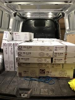Jedna zásilka Buzon terčů, včetně nového modelu PB-0-S18 - nejnižšího nastavitelného terče na našem trhu