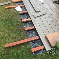 Ukázka montáže wpc terasy na terč Buzon PB-0-S18