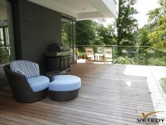 Dřevěná terasa Ipé se skrytým uchycením Softline