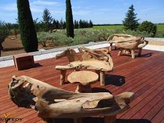 Dřevěná terasa Merbau se skrytým uchycením Softline