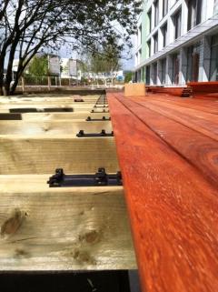 Dřevěné terasy z exotického dřeva se skrytým uchycením Softline®