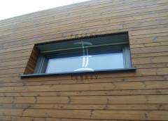 Dřevěné obložení domu z thermowood borovice