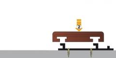 postup montáže dřevěných terasových prken Softline - nasazení prkna