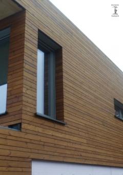 Dřevěný obklad fasády Thermowood borovice