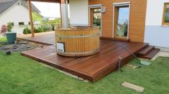 Dokončená dřevěná terasa Ipe