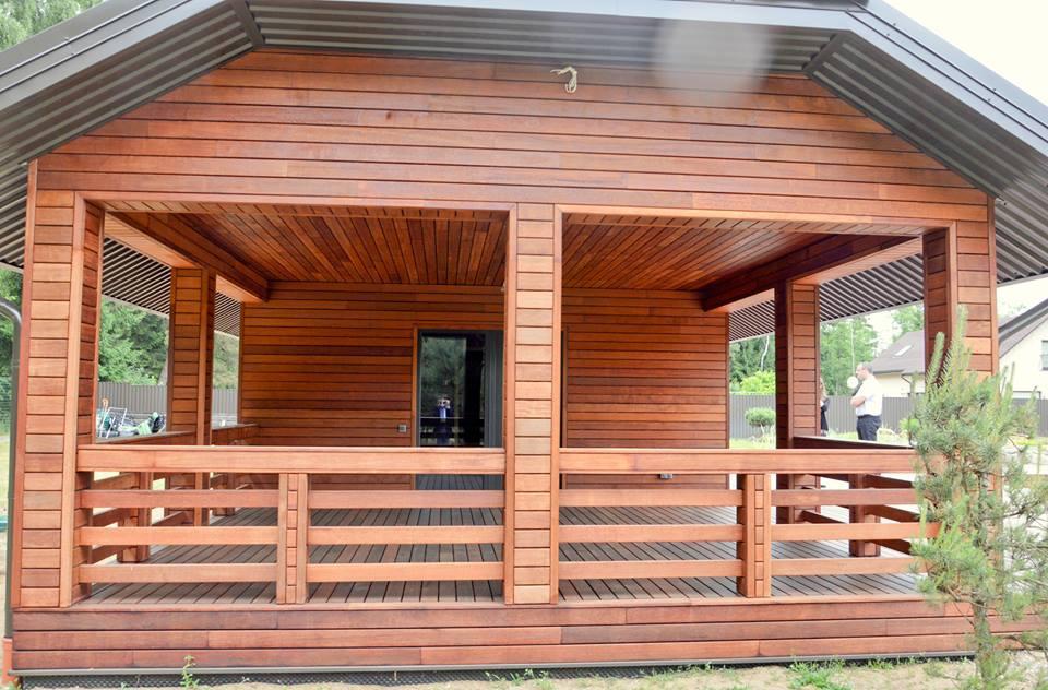 Dřevěná fasáda - systém Softline merbau