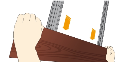 Instalace dřevěného fasádního prkna