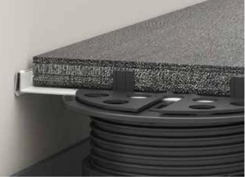 BUZON lišta U-WALL - ukázka použití detail