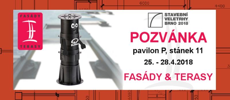 Pozvánka na stavební veletrh IBF 2018 Brno - Fasády & Terasy