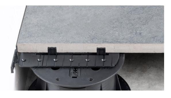 U-WALL okrajová lišta na terči pod dlažbu pod keramickou dlažbou