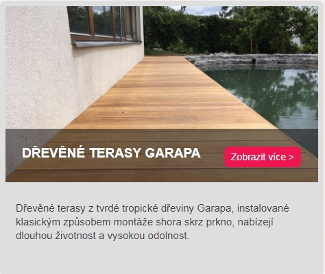 dřevěné terasy Garapa odkaz do kategorie