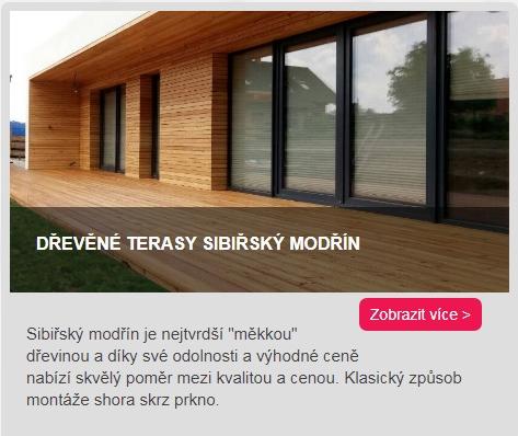 dřevěné terasy Sibiřský modřín odkaz do kategorie
