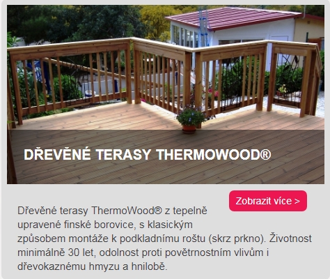 dřevěné terasy Thermowood borovice odkaz do kategorie