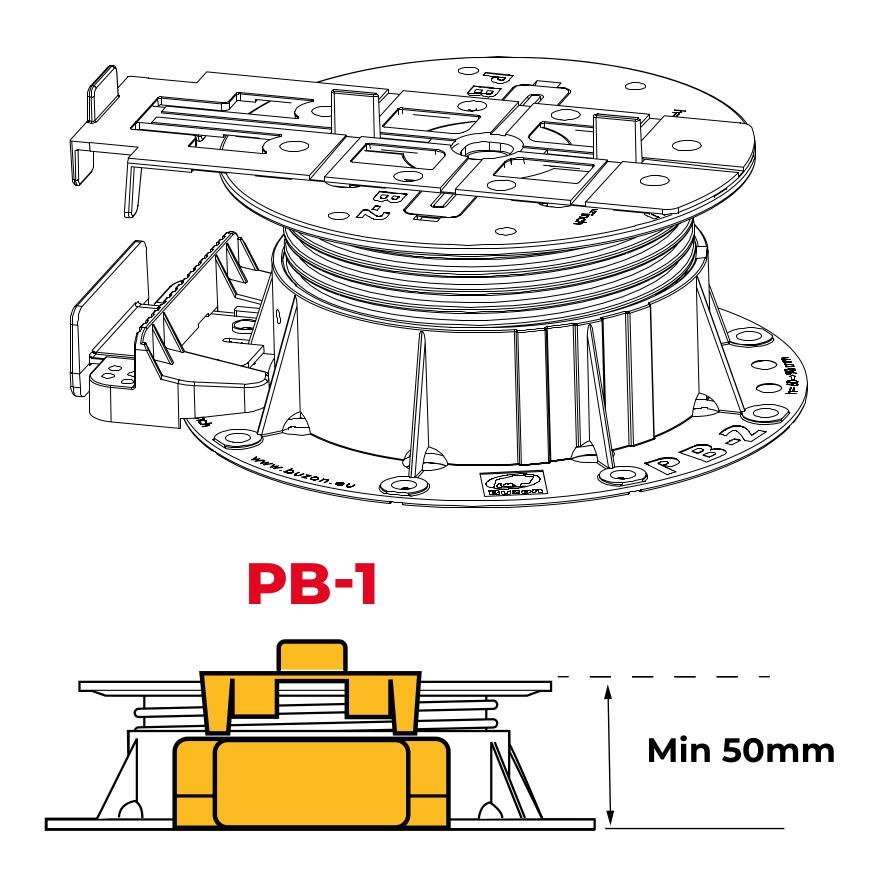 PB END PP 2020 - nákres použití na terči BUZON