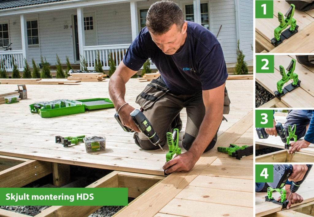 Instalace terasy pomocí HDS kleští