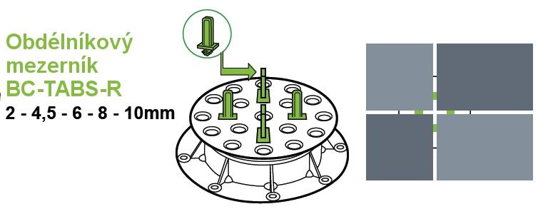 Použití mezerníků BC-TABS-R BC série rektifikačních terčů BUZON
