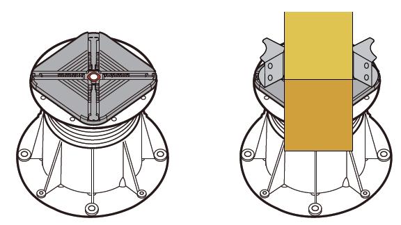 Použití držáku roštu BC-BATTEN-KIT se dvěma držáčky