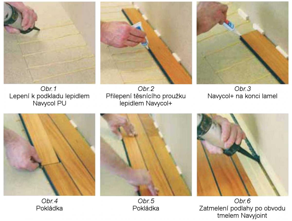 Dřevěná podlaha do koupelny Navylam+ - obrázkový návod pokládky
