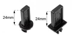 Mezerníky o výšce 24 mm pro BC sérii BUZON (BC-TABS)