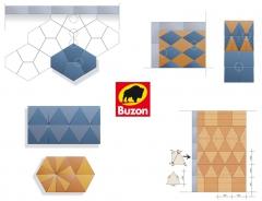 Různé tvary dlažby