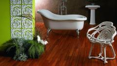 Dřevěná podlaha do koupelny Navylam+ (tloušťka 9 mm)