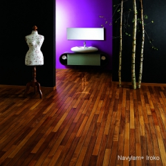 Navylam+ dřevěná podlaha do koupelny z Iroka
